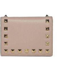 Valentino Garavani Rockstud Folded Wallet - Pink