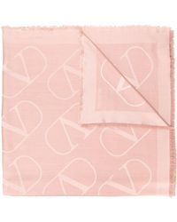 Valentino Valentino Garavani Vlogo Jacquard Stole - Pink