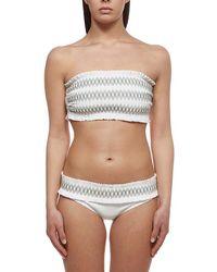 Tory Burch Costa Bandeau Bikini Top - White