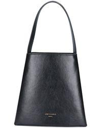 Low Classic Mini Curve Bucket Bag - Black