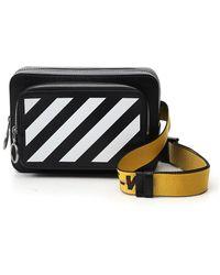 Off-White c/o Virgil Abloh Diagonal Print Belt Bag - Black