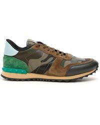 Valentino Valentino Garavani Rockrunner Camouflage Sneakers - Green