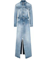 MM6 by Maison Martin Margiela Split Denim Dress - Blue