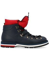 Moncler - Henoc Logo Lace-up Ankle Boots - Lyst