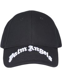 Palm Angels Logo Embroidered Baseball Cap - Black