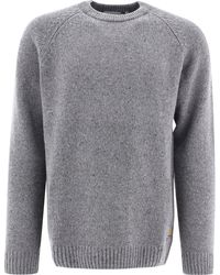 "Carhartt WIP ""anglistic"" Wool Sweater - Gray"