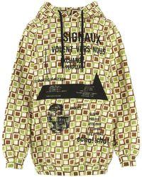 Prada Printed Cotton Sweatshirt Nd - Yellow
