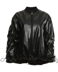 f1a49cdd61 Gathered Bomber Jacket - Black