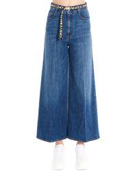 Stella McCartney Cropped Flared Jeans - Blue