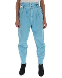 Gucci High Waisted Cherry Patch Jeans - Blue