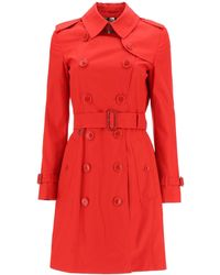 Burberry Belted Trench Coat - Red