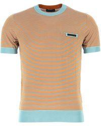 Prada Embroidered Silk T-shirt - Multicolour