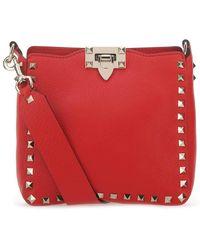 Valentino Garavani Rockstud Mini Hobo Bag - Red