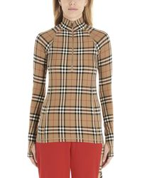 Burberry Vintage Check Turtleneck Top - Multicolor