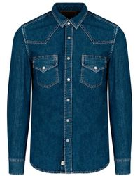 DIESEL Western Denim Shirt - Blue