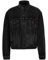 Balenciaga Oversized Denim Jacket - Gray