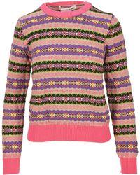Comme des Garçons Knitted Jacquard Jumper - Pink