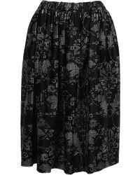 Comme des Garçons Floral Printed Skirt - Black