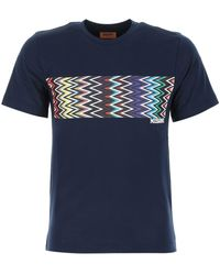 Missoni Zigzag Panel T-shirt - Blue
