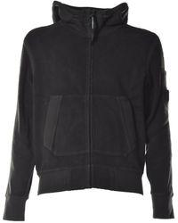 C.P. Company Zip-up Hooded Sweatshirt - Black