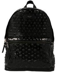 Jimmy Choo Logo Stamp Backpack - Black