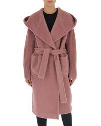 Tagliatore Tie-waist Robe Coat - Pink