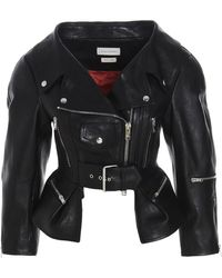 Alexander McQueen Other Materials Outerwear Jacket - Black