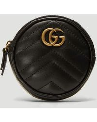 Gucci Marmont Quilted Leather Purse - Black