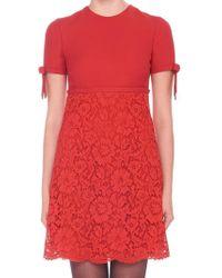 Valentino - Lace Mini Dress - Lyst