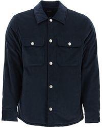 A.P.C. Alex Blouson Jacket S Cotton - Blue
