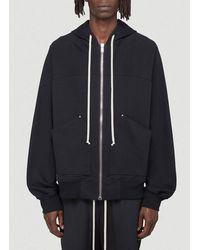 Rick Owens Zipped Hooded Jacket - Black
