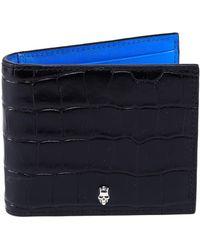 Alexander McQueen - Textured Billfold Wallet - Lyst