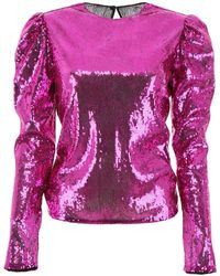 Philosophy Di Lorenzo Serafini Embellished Gigot-sleeves Top - Pink