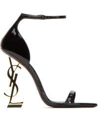 Saint Laurent Opyum Sandals - Black
