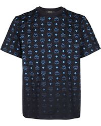 MCM All Over Logo Print T-shirt - Black