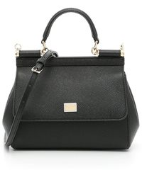 Dolce & Gabbana Sicily Small Tote Bag - Black