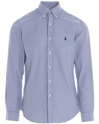 Polo Ralph Lauren Slim-fit Striped Shirt - Blue