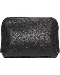 Ferragamo Travel Wash Bag Black