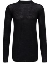 Rick Owens Crewneck Knit Sweater - Black