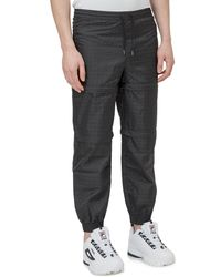 Fila Logo Print Drawstring Track Trousers - Black