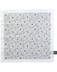 Saint Laurent Printed Bandana - White