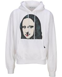 Off-White c/o Virgil Abloh Off White Mona Lisa-print Cotton-jersey Hoody