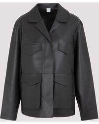 Totême Army Leather Jacket - Black