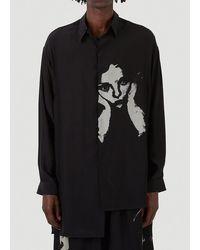 Yohji Yamamoto Graphic Printed Shirt - Black
