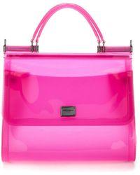 Dolce & Gabbana Sicily Top Handle Bag - Pink