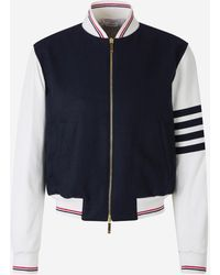 Thom Browne Combined Bomber Jacket - Blue