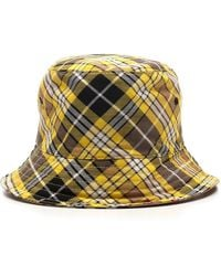 Burberry Reversible Checked Bucket Hat - Multicolour