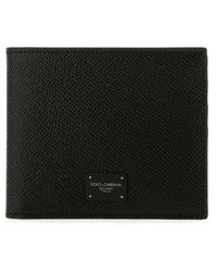 Dolce & Gabbana Logo Plaque Bifold Wallet - Black