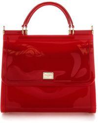 Dolce & Gabbana Sicily Top Handle Bag - Red