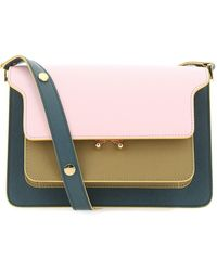 Marni Colour Block Trunk Shoulder Bag - Pink